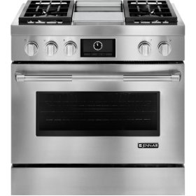 Pro-Style® Dual-Fuel Range with Griddle and MultiMode® Convection, 36""