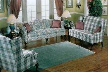 Sofa with Cherry Queen Anne legs