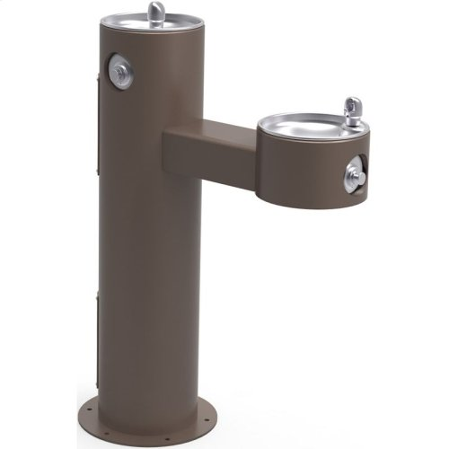 Elkay Outdoor Fountain Bi-Level Pedestal Non-Filtered, Non-Refrigerated Freeze Resistant Brown