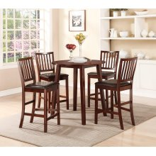 "Espresso Counter High Table (1-18"" Leaf)"