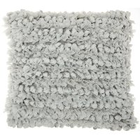 """Shag Dl658 Silver 16"""" X 16"""" Throw Pillows Product Image"""