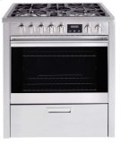 "30"" (76cm) stainless steel dual fuel range Product Image"