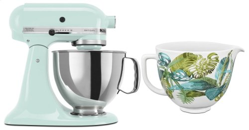 Exclusive Artisan® Series Stand Mixer & Patterned Ceramic Bowl Set - Ice