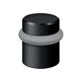 "Round Universal Floor Bumper 1-1/2"", Solid Brass - Paint Black"