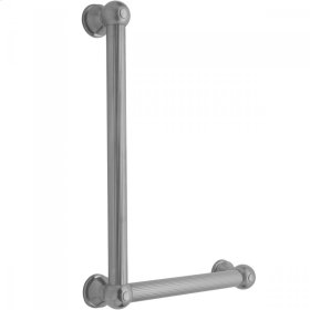 Polished Nickel - G33 16H x 12W 90° Right Hand Grab Bar