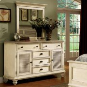 Coventry Two Tone - Shutter Door Dresser - Weathered Driftwood/dover White Finish Product Image