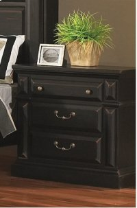 Night Stand - Antique Black Finish Product Image