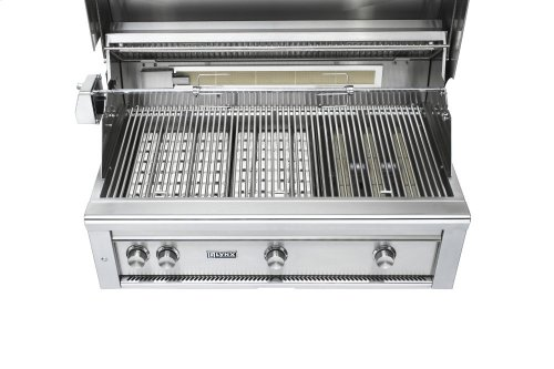 """42"""" Lynx Professional Built In Grill with 1 Trident and 2 Ceramic Burners and Rotisserie, NG"""