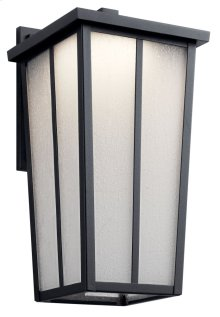 "Amber Valley 17.25"" LED Wall Light Textured Black"