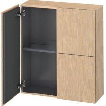 Semi-tall Cabinet, Brushed Oak (real Wood Veneer)