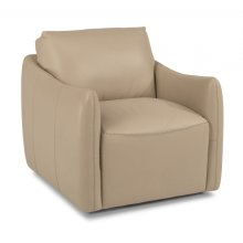 Morgan Leather Swivel Chair