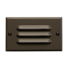 Horizontal Louvered LED Step Light Architectural Bronze