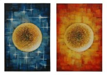 "32"" x 48"" each Stretched Canvas, Set Of 2."