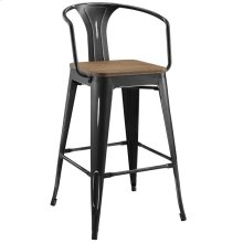 Promenade Bar Stool in Black