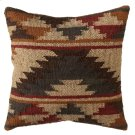 Grey & Tan Tribal Kilim Pillow. Product Image