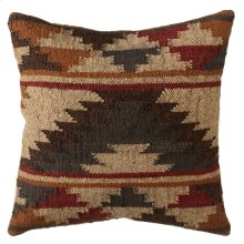 Grey & Tan Tribal Kilim Pillow.