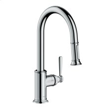 Chrome AXOR Montreux 2-Spray HighArc Kitchen Faucet, Pull-Down, 1.75 GPM