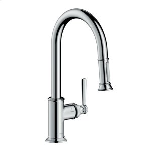 Chrome Montreux 2-Spray HighArc Kitchen Faucet, Pull-Down Product Image