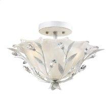 Circeo 2-Light Semi-Flush in Antique White