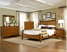 Slat King Bed, Headboard