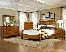 Slat Queen Bed, Rails and Slats