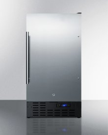 "18"" Wide ADA Compliant Built-in Undercounter All-refrigerator With A Stainless Steel Exterior, Digital Thermostat and Front Lock"