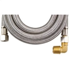 Braided Stainless Steel Dishwasher Connector with Elbow (10ft)