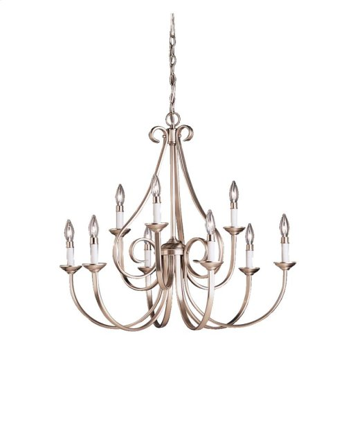 Dover Collection Dover 9 Light - 2 Tier Chandelier in Tannery Bronz
