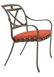 Palladian Strap Stacking Dining Chair with Seat Pad - X-Back
