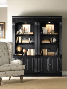 Bunching Bookcase With Doors