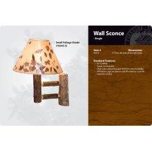 Hickory Wall Sconce - Single