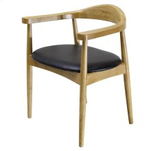 Tita PU Chair, Black/ Natural
