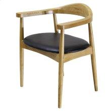 Tita PU Chair, Black/ Natural