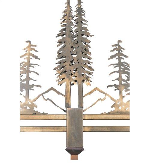 "40""L Pinecone Tall Pines 2 LT Island Pendant"