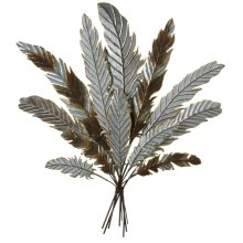 Galvanized Feather Bouquet Wall Decor