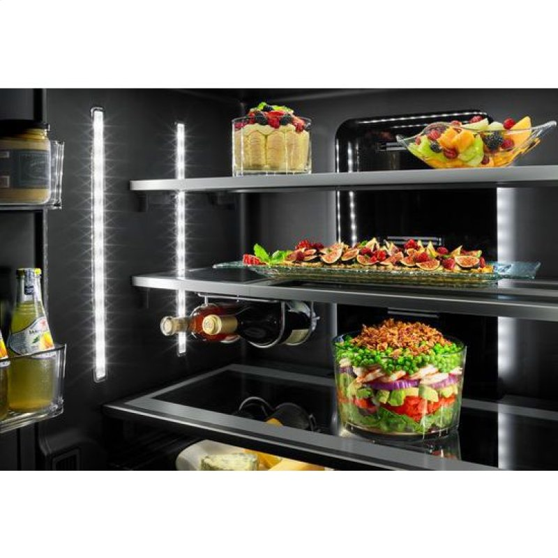 Euro Style 72 Counter Depth French Door Refrigerator With Obsidian Interior