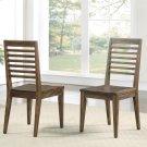 Modern Gatherings - Slat Back Side Chair - Brushed Acacia Finish Product Image