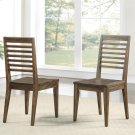 Modern Gatherings - Slat Back Side Chair - Brushed Acacia Finish Product Image