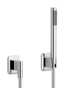Hand shower set with individual flanges - chrome