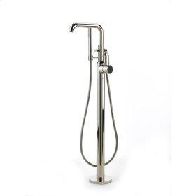 Polished Nickel River (Series 17) Single Supply Floor Tub Filler