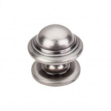 Empress Knob 1 3/8 Inch - Pewter Antique