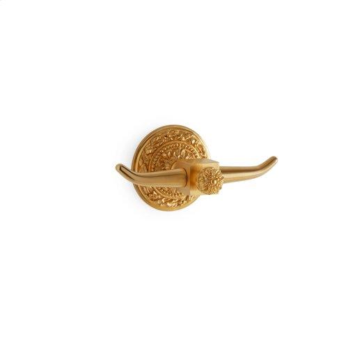 Satin Brass Acanthus Double Hook