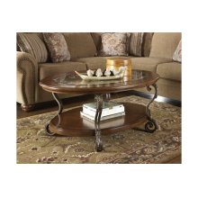 T517-0  Oval Cocktail Table