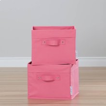 Canvas Baskets, 2-Pack - Pink