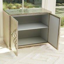 Scroll Two-Door Cabinet-Silver