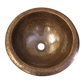Aldo Large Lavatory Bowl - Hammered Antique Copper