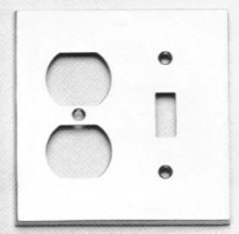 Combination Modern Switchplate - Solid Brass in US15 (Satin Nickel Plated, Lacquered)