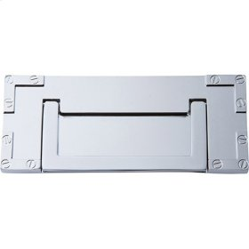 Campaign L-Bracket Drop Pull 3 Inch - Polished Chrome