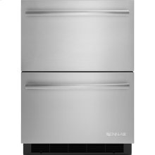 """24"""" Double-Refrigerator Drawers, Euro-Style Stainless Handle"""
