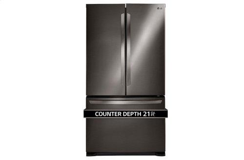 LG Black Stainless Steel Series 21 cu. ft. 3-Door French Door Counter-Depth Refrigerator